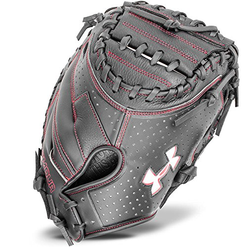 Under Armour Baseball UACM-100 Framer Series Baseball Catching Mitt, Black, Adult - League Little Catcher