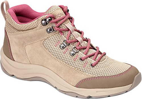 Vionic Womens Cypress Trail Walker Taupe/Pink Size 9.5