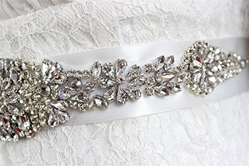 Henglizh Women's Rhinestones Bridesmaid Dress Sash Bride Wedding Dress Belt