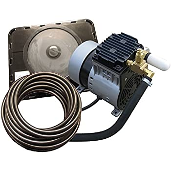 EasyPro Pond Products PA34W 1/4 hp Rocking Piston Aeration System Kit with Quick Sink Tubing