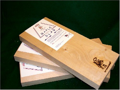 Just Smoked Salmon Grill Master Grilling Plank Slab Kit (One Slab Each of Cedar, Alder, Maple) by Just Smoked Salmon