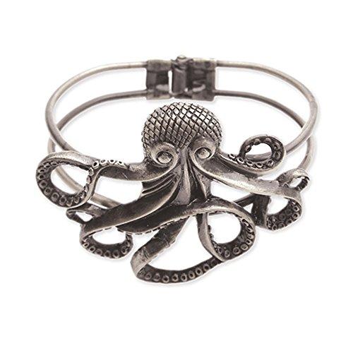 Zad Jewelry Silver Metal Octopus Bracelet