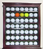 Golf Ball Display Case Rack Cabinet With Glass Door Solid Wood