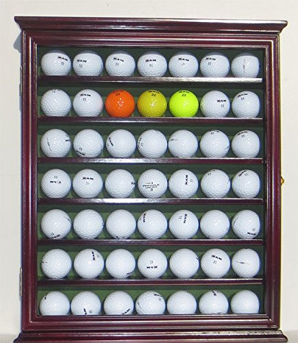 Golf Ball Display Case Rack Cabinet With Glass Door Solid Wood by Display Case