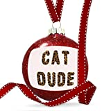 Christmas Decoration Cat Dude Cheetah Cat Animal Print Ornament
