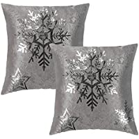 2-Pack Suo Ai Textile Snowflake Pillow Cover