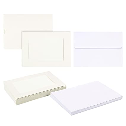 Amazon.com : Photo Insert Note Cards - 25-Pack Paper Picture Frames ...