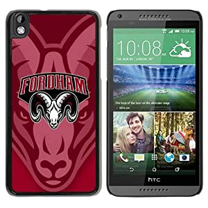 NCAA Fordham Rams 3 Black Customize HTC Desire 816 Phone Cover Case