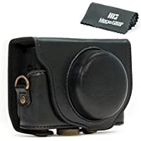MegaGear Ever Ready Protective Leather Camera Case, Bag for Sony Cyber-shot DSC-HX90V Digital Camera (Black)