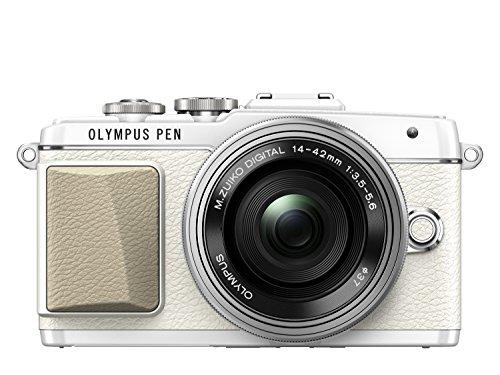 Olympus PEN E- E-PL7.  Kompakte Systemkamera (16 Megapixel, elektrischer Zoom, Full HD, 7,6 cm (3 Zoll) Display, Wifi) inkl. 14-42 mm Pancake Objektiv weiß/silber