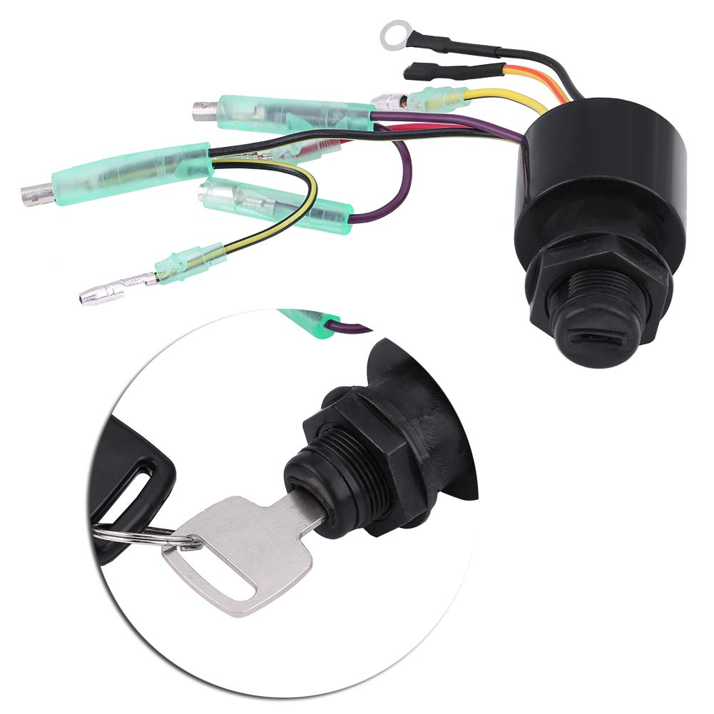 KIMISS Boat Ignition Key Switch Assembly for Mercury Outboard Remote Control Box 87-17009A5