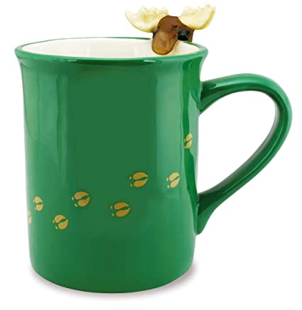 5cb01028740 Amazon.com: Moose Coffee Mug Novelty Tea Cup - Cape Shore …: Home ...