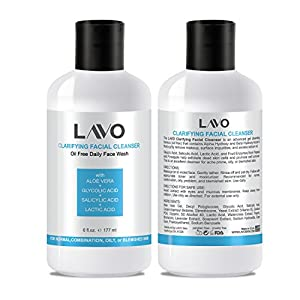 Best Glycolic Acid Face Cleanser for Oily and Acne Prone Skin - Contains Salicylic & Lactic Acids - Exfoliates and Sloughs Away Dead Skin that Cause Blackheads and Pimples - for Men, Women, and Teens