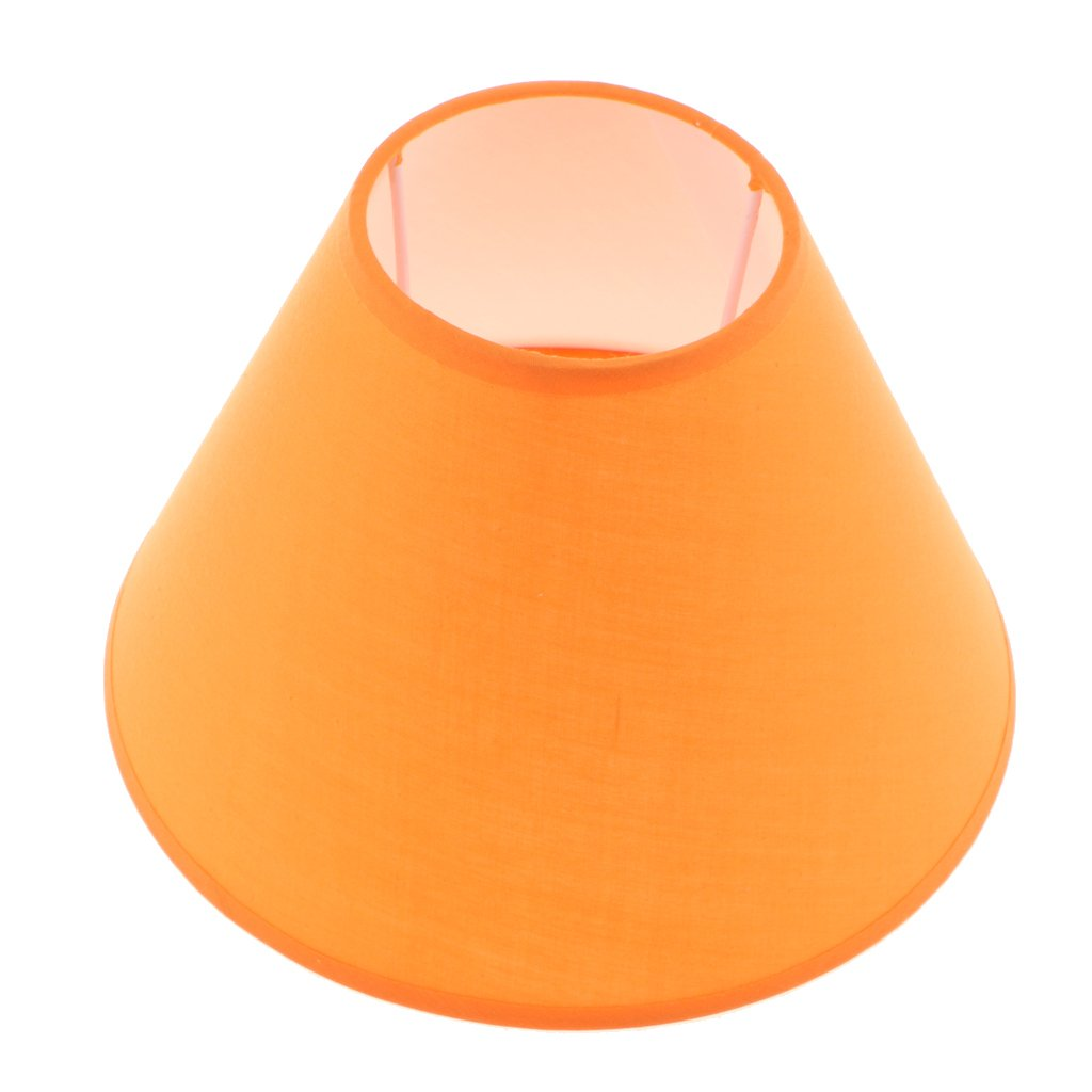 Baoblaze Table Lamp Shade Lampshade Cover Bedside Lamp Home Lighting Desk Lamp Fixture - Orange
