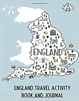 Kids Map Of England.England Travel Activity Book And Journal For Kids Family A Go Go
