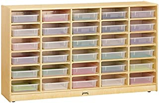 product image for Jonti-Craft 09310JC 30 Bins Mobile Storage with Clear Bins