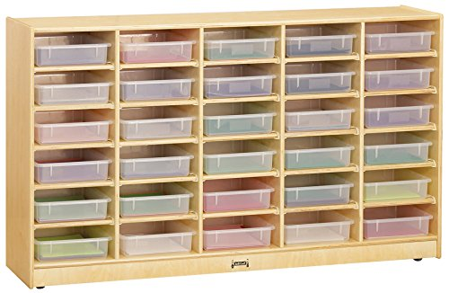 Jonti-Craft 09310JC 30 Paper-Tray Mobile Storage with Clear -