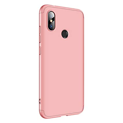 best website a78eb 7da95 Case Compatible with Xiaomi Redmi Note 6 Pro Case 3 in 1 Smooth Hard PC Fit  Bumper Protection for Xiaomi Redmi Note 6 Pro Phone (Rose Gold, Redmi Note  ...