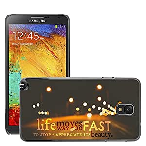 Hot Style Cell Phone PC Hard Case Cover // M00045291 typography fast artistic moves to // Samsung Galaxy Note 3
