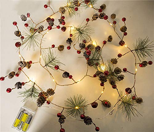 Led Pine Cone Christmas Lights in US - 8
