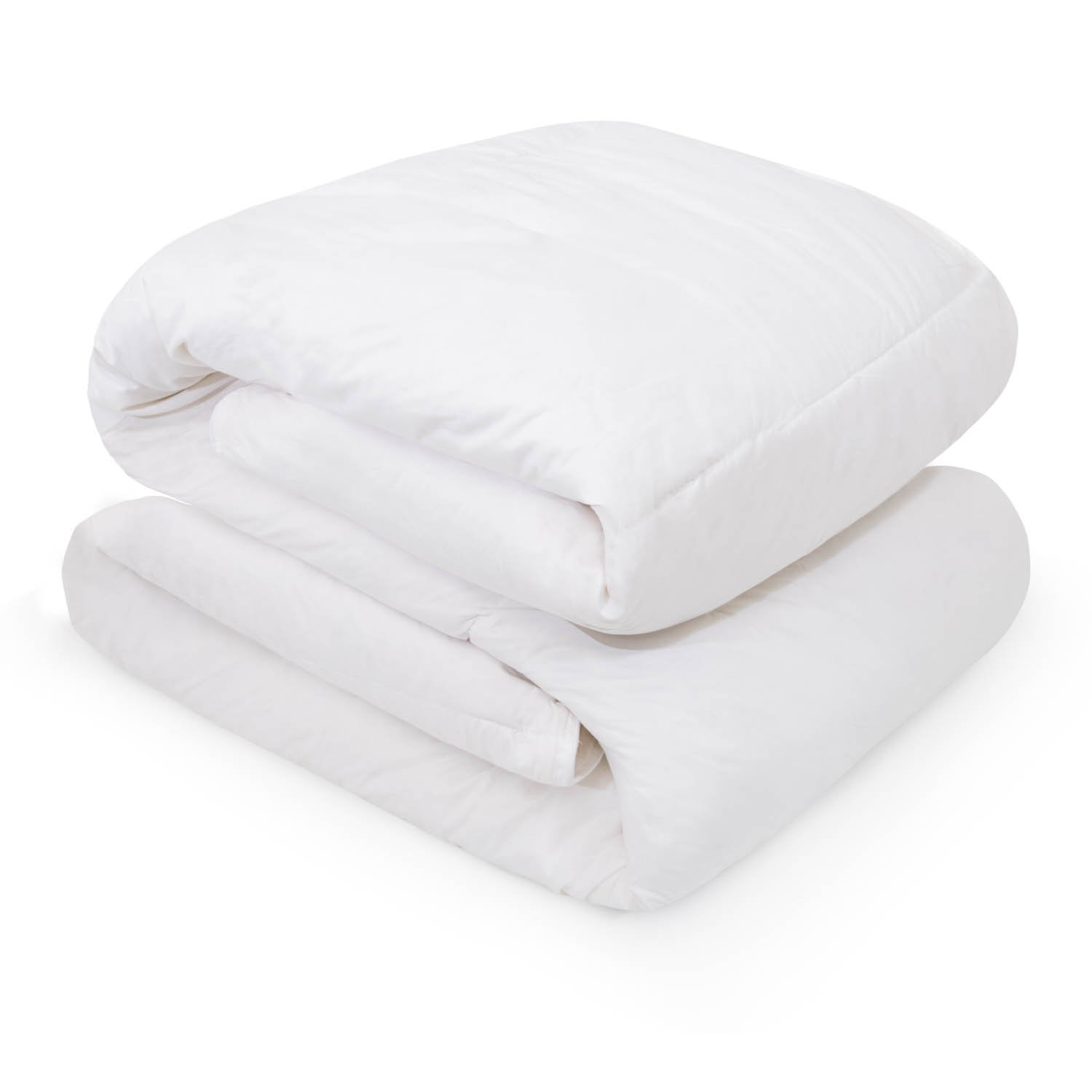 White Down Blend Comforter sold by LINENSPA -100% Cotton Cover and Corner Loops - Oversized Queen
