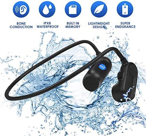 8G MP3水泳用ヘッドフォンIP8防水および防汗Bluetooth骨伝導ヘッドフォンMP3プレーヤー機能付き水泳/ダイビング/サーフィン/ローイング/ランニング/スキー/自転車