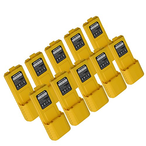 NKTECH BL-5L 7.4V 3800mAh Extended Li-ion Battery For Baofeng Pofung UV-5R V2 UV-5RA BF-F8+ F9 TYT TH-F8 Two Way Radio Walkie Talkie Yellow Warranty Pack of 13 by NKTECH