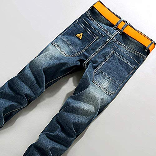 Uomo In E Destroyed Pantaloni Fashion Giovane Blau Da Skinny Jeans Casual Denim Elasticizzati Pants Vintage 5Xw017nq