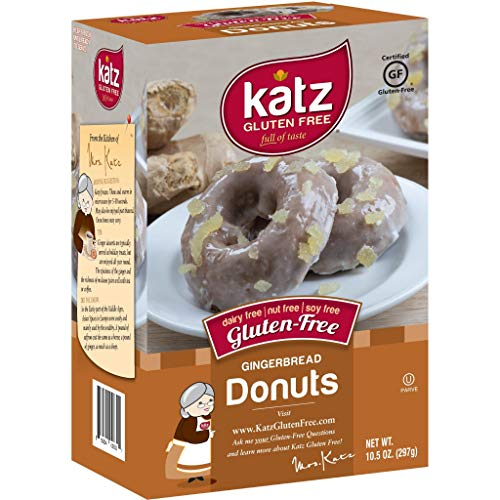 (Katz Gluten Free Gingerbread Donuts | Dairy, Nut, Soy and Gluten Free | Kosher (1 Pack of 6 Donuts, 10.5 Ounce) )