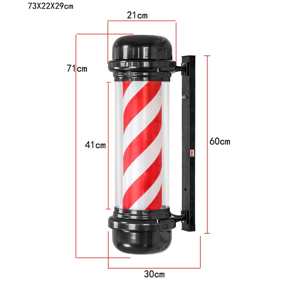 Poste De Peluquería Giratorio De Alto Grado Iluminado Con Forma De Flecha Para Peluquería - Rojo Blanco 29x73 CM LTANG