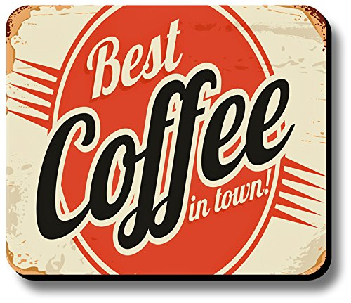 Decorative Mouse Pad Vintage Sign Fresh Brewed Coffee