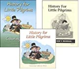 History for Little Pilgrims Student, Teacher and Coloring Book SET of 3 for grade 1