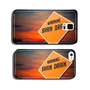 Brain Drain on Warning Road Sign. cell phone cover case iPhone6