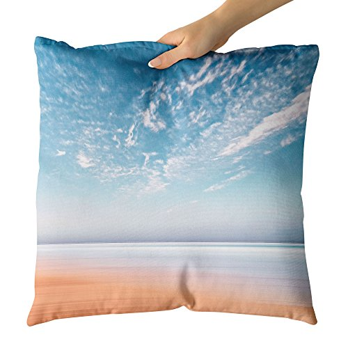 Westlake Art Beach Cloud - Decorative Throw Pillow Cushion - Picture Photography Artwork Home Decor Living Room - 26x26 Inch - Abbey Dawn Collection