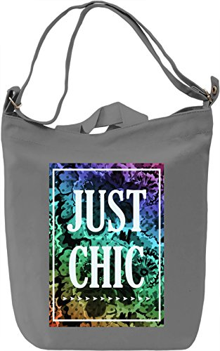 Just Chic Borsa Giornaliera Canvas Canvas Day Bag| 100% Premium Cotton Canvas| DTG Printing|