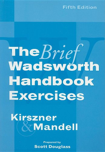 Exercises for Kirszner/Mandell's The Brief Wadsworth Handbook, 5th