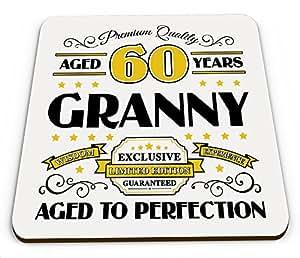 Premium calidad años 60años abuela taza brillante posavasos–dorado