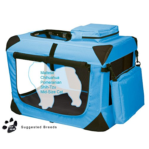 Pet Gear Portable Soft Crate-21 inches-Blue