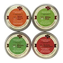 Heavenly Tea Leaves Chai Tea Sampler - 4 Bestselling Cans - Approximately 25 Servings of Tea Per Can