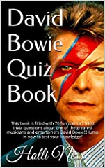 This book is filled with 70 fun and fact filled trivia questions about one of the greatest musicians and entertainers David Bowie!!! Jump in now to test your knowledge!