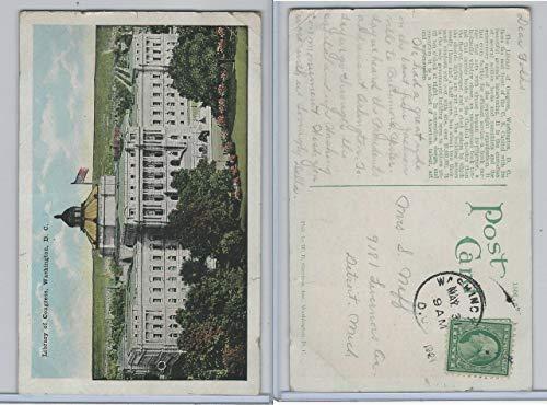 Library Of Congress Dc - Postcard, Washington DC, Library Of Congress, 1921