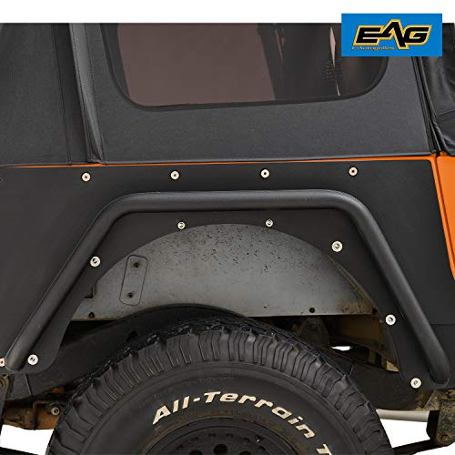 (EAG Black Rear Fender Flares Armor Rocker Guards)