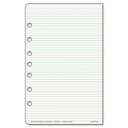 Lined Notes for Looseleaf Planners, 5-1/2 x 8-1/2, 48 - Timer Lined Notes Day
