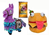 Fortnite DURR LOOT Extravaganza Super Pack! Series 1 Value Pack 22 Trading Action Cards Pack + The Durr Burger 5' Plush + Loot Llama 7' Plush Bundle