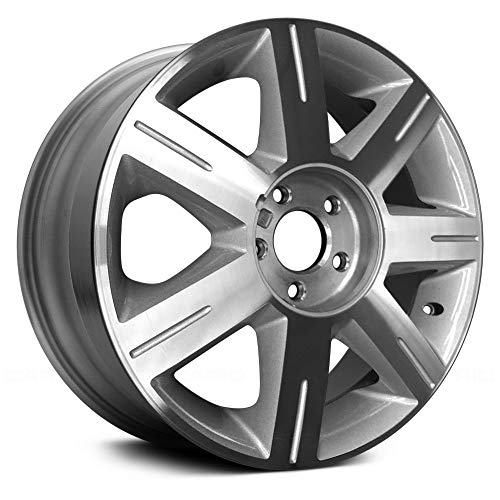 (Replacement 7 Spokes Machined and Silver Factory Alloy Wheel Fits Cadillac DTS )