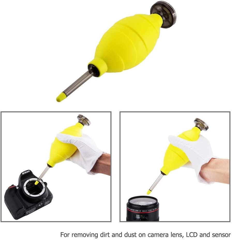 Professional Hurricane Air Blaster Cleaning Blower with Built-in Dust Filter for Sensor LCD Screens Camera Telescope Lens Filter Keyboards