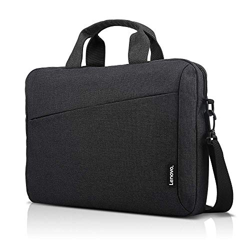 Lenovo Laptop Shoulder Bag T210, 15.6-Inch Laptop or Tablet, Sleek, Durable and Water-Repellent Fabric, Lightweight Toploader, Business Casual or School, GX40Q17229, Black