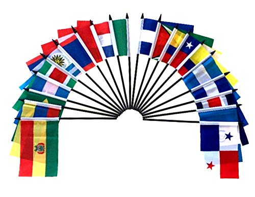 Central and South America World Flag SET-20 Polyester 4