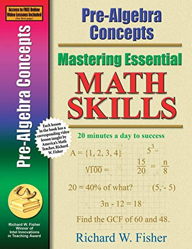 Pre-Algebra Concepts (Mastering Essential Math Skills) (Best Math Websites For Middle School)