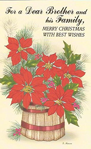 for a dear brother and his family merry christmas with best wishes c15